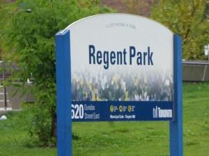 Regent Park Sign