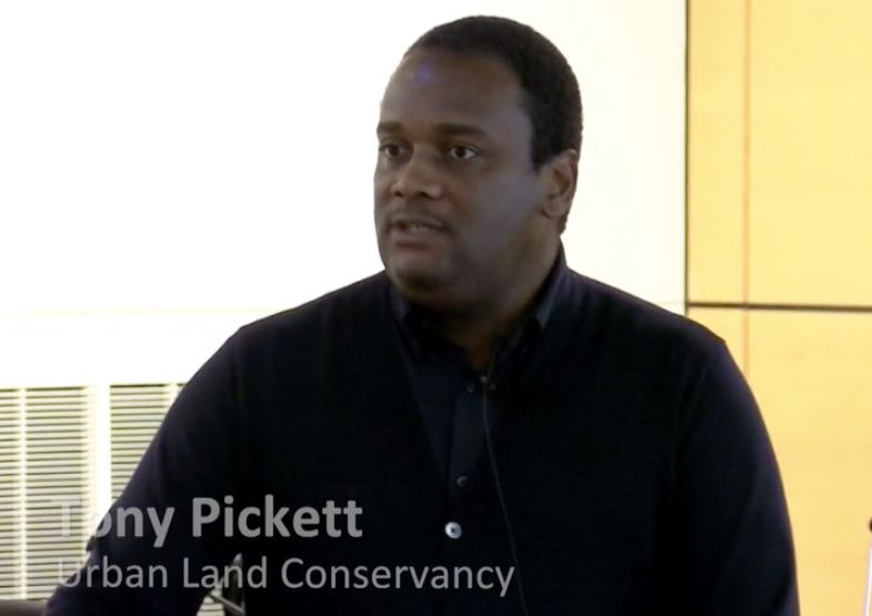 Tony Pickett speaking on Community Land Trusts as a tool against displacement at Oregon Metro on March 17, 2017