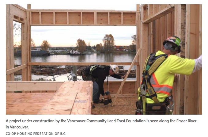 Vancouver Land Trust Foundation Project under construction