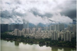 Some of China's densest cities--Shenghai, Zhuhai (shown here), Shenzhen, Beijing and Tianjin--have managed to keep the lowest infection rates.